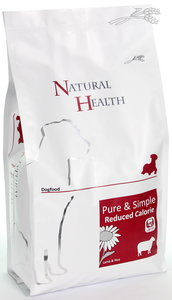 Natural Health dog lamb & rice reduce