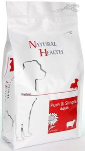 Natural Health dog lamb & rice adult