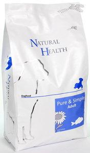 Natural Health dog fish & rice adult