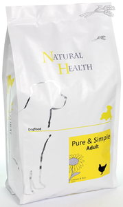 Natural Health dog chicken & rice adult